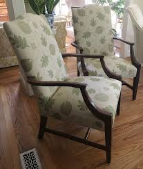 FALL SALE - Pair Of Leaf Patterned Martha Washington Chairs - Totally  Refurbished - Shipping Rates Vary