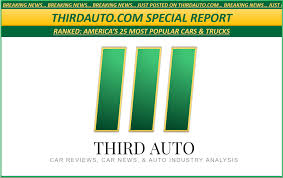 100 Most Popular Trucks Ranked Americas 25 Cars Third Auto