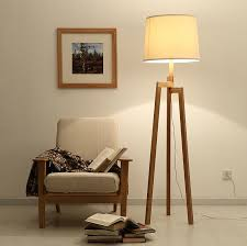 modern wood floor ls for living room solid wooden tripod