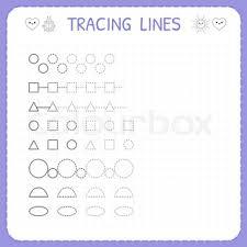 Trace line worksheet for kids Preschool or kindergarten worksheet