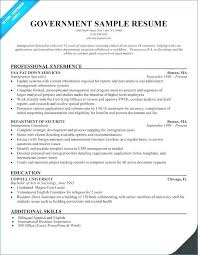 Best Resume For Government Jobs Unique Sample Employment Exaple