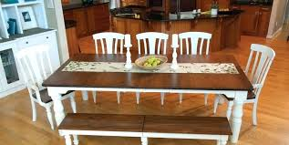 Farmhouse Style Dining Room Set Farm Sets Together With Modern Table Theme Chairs