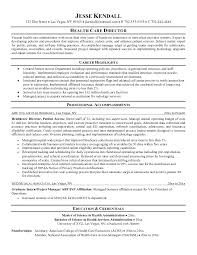 Example Of Resume Objective For Healthcare Feat