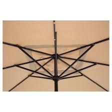 Solar Lighted Rectangular Patio Umbrella by Sun Ray 9 U0027 X 7 U0027 Rectangular Solar 30 Led Lighted Aluminum Patio
