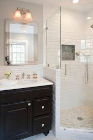 how high is the subway tile wainscot