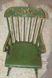Nichols And Stone Windsor Rocking Chair by Antique Nichols And Stone Stenciled Black Rocker Rocking Chair