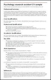 Psychology Resume Sample Forensic Psychologist