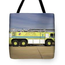 100 Airport Fire Truck Shreveport Regional Tote Bag For Sale By
