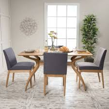 Wood Dining Table With Bench Mid Century 5 Piece Rectangle Set By Knight Home Wooden