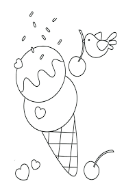 Ice Cream Sundae Colouring Page Delicious Coloring Pages Book Truck Sheet