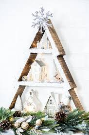 Winter Wonderland Holiday Tree Shelf How To Make A Snowy Cabin Inspired