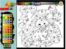 Cat Coloring Book Games Painting Free Kids Kid Game