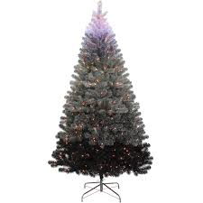 F12 7ft Pre Lit Grey Ombre Christmas Tree
