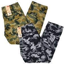 levis cargo pants mens relaxed fit camouflage 6 pocket army green