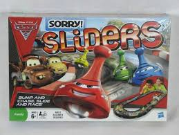Hasbro Disney PIxar Cars 2 Sorry Sliders Family Board Game Mater McQueen New