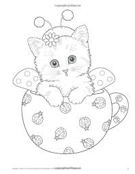Christmas Kitten Coloring Pages Best Animals Images On Of Printable Hello