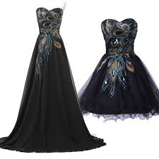 plus size 2 24 long short peacock masquerade ball gown party