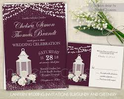 Lantern Wedding Invitation Winter Wedding Invite RSVP Suite