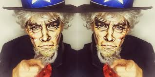Halloween Express Purge Mask by Uncle Sam Inspired Makeup Transformation Tutorial Youtube