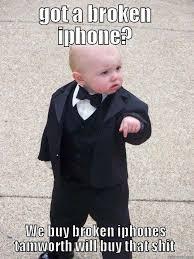 broken phones quickmeme