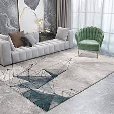 rug xwzy nordic moderne abstrakte graue gold curve muster