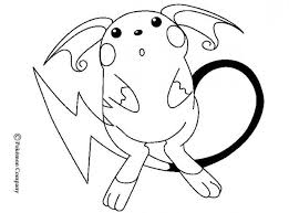 Charming Color Pages Pokemon Coloring Page Raichu Online Print