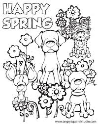 Spring Coloring Pages HAPPY SPRING