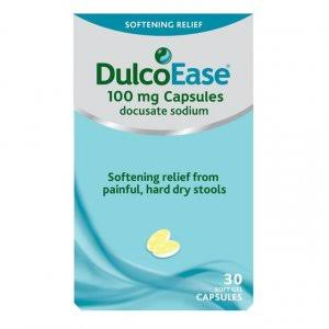 DulcoEase Sodium Stool Softener - 100mg, 30 Soft Gel Capsules
