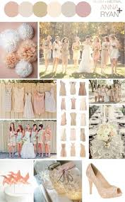 Rustic Neutral Wedding Color Schemes Blush