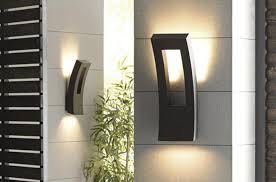 led light design outdoor wall with photocell modern lights plan