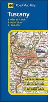 Tuscany AA Road Map Italy Amazoncouk Publishing 9780749556242 Books