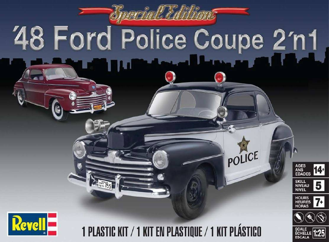 Revell '48 Ford Police Coupe 2in1 Plastic Model Kit - 1:25 Scale