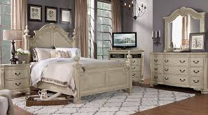 Rooms To Go Queen Bedroom Sets by Cortinella Cream 7 Pc Queen Poster Bedroom Queen Bedroom Sets