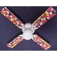 ceiling fan designers disney mickey mouse 1 indoor ceiling fan