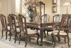 bob mackie oval double pedestal dining table american drew