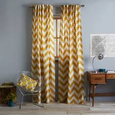 Gray Chevron Curtains Living Room by Perfect Curtains Cotton Canvas Zigzag Curtain Maize Michigan