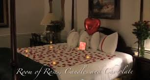 Room of Roses Candles and Chocolate