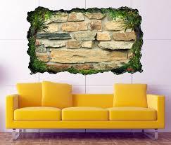 3d wandtattoo steine steinmauer stein mauer selbstklebend wandbild wandsticker wohnzimmer wand aufkleber 11o1091 wandtattoos und leinwandbilder