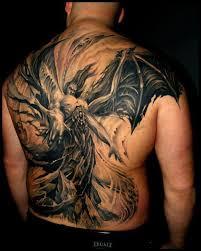 Crazy Demon Rising Tattoo