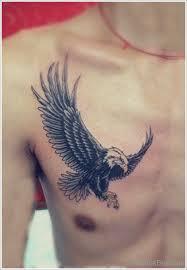 Bird Tattoos Chest Eagle Elegant Tattoo On