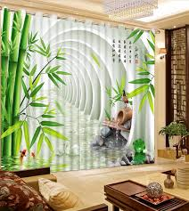 moderne 3d fenster vorhang für das wohnzimmer bambus vorhänge schlafzimmer 3d room vorhang 2 stücke erweitern raum vorhänge