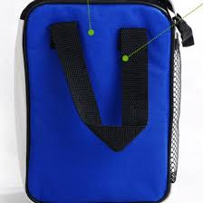 Fashion Blue Insulated Lunch Bags Packing Boxes For Men