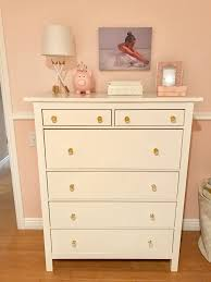 Hemnes 3 Drawer Dresser As Changing Table by Bella U0027s Blush And Gold Bedroom The Clear Acrylic And Gold Knobs