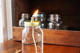 Citronella Oil Lamps Diy by Mason Jar Oil Lamp Red Leaf Stylered Leaf Style