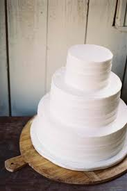 Simple Rustic All White Wedding Cake Were Just Going To Eat It Also That Stand Is Amazing