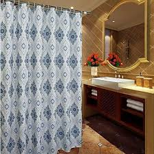 Interdesign 96 Inch Fabric Waterproof Extra Long Shower Curtain