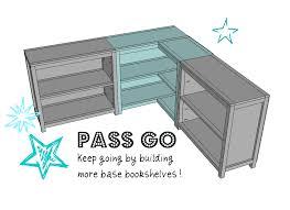 ana white build a round the corner bookshelf free and easy diy