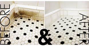 clean the bathroom grout tile