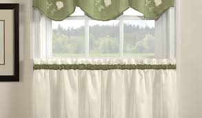 White Kitchen Curtains With Red Trim by Green Kitchen Net Curtains Integralbook Com