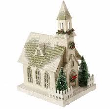 Raz Artificial Christmas Trees raz lighted house christmas ornaments set of 3 shelley b home